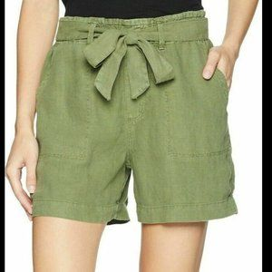 Sanctuary Women's Green Tie Waist Linen Shorts NWT